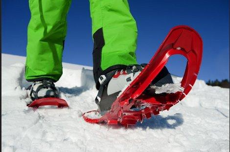 Toe box going through snow shoe